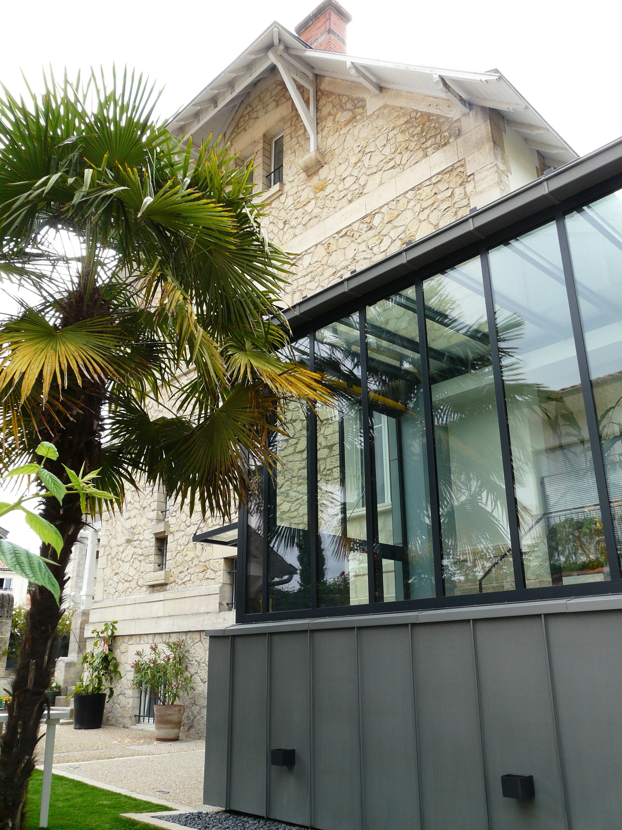 extension de verre la rochelle 17 zest architecture. Black Bedroom Furniture Sets. Home Design Ideas