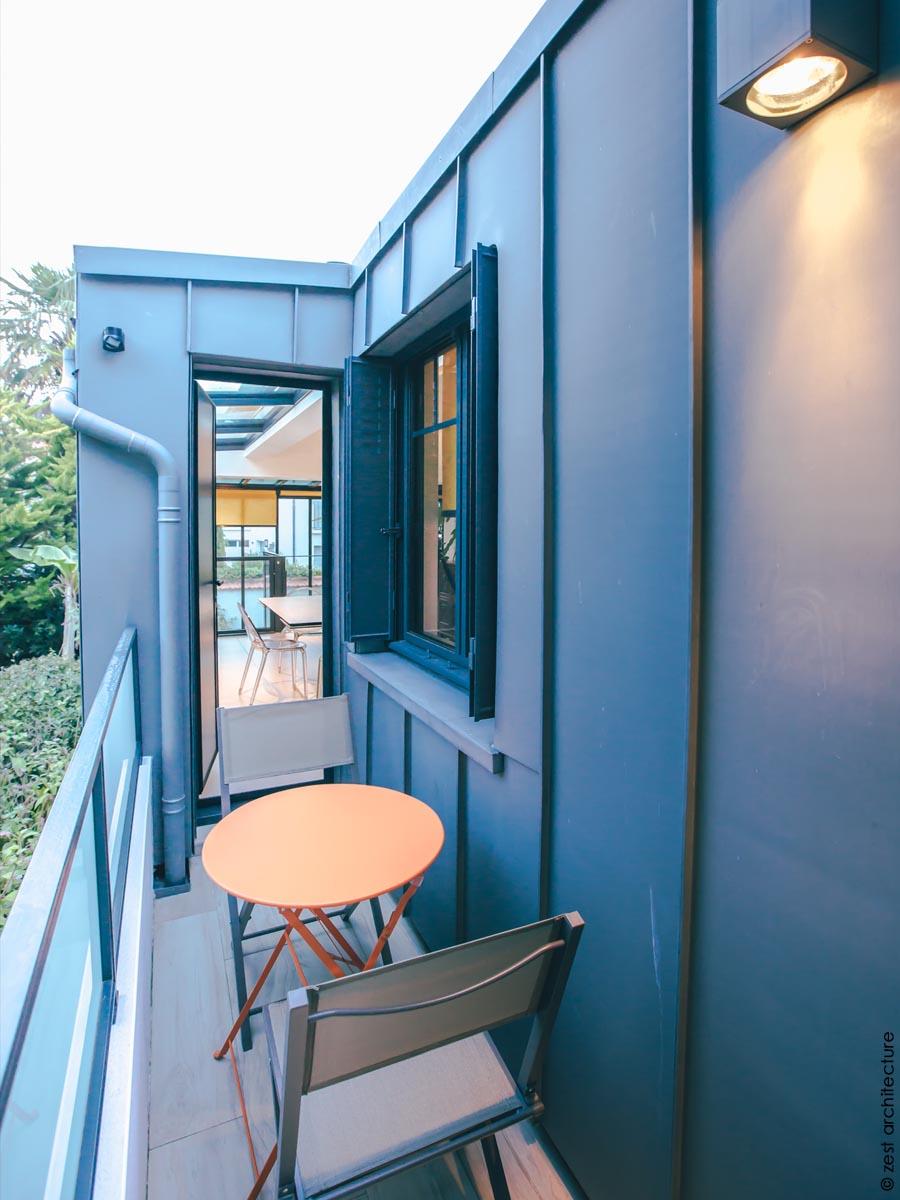 Extension de verre d une maison de ville   La Rochelle (17) - Zest  Architecture - Céline   Jean Delauné - Architecte La Rochelle - Architecte  Ile de RéZest ... 096116330f56