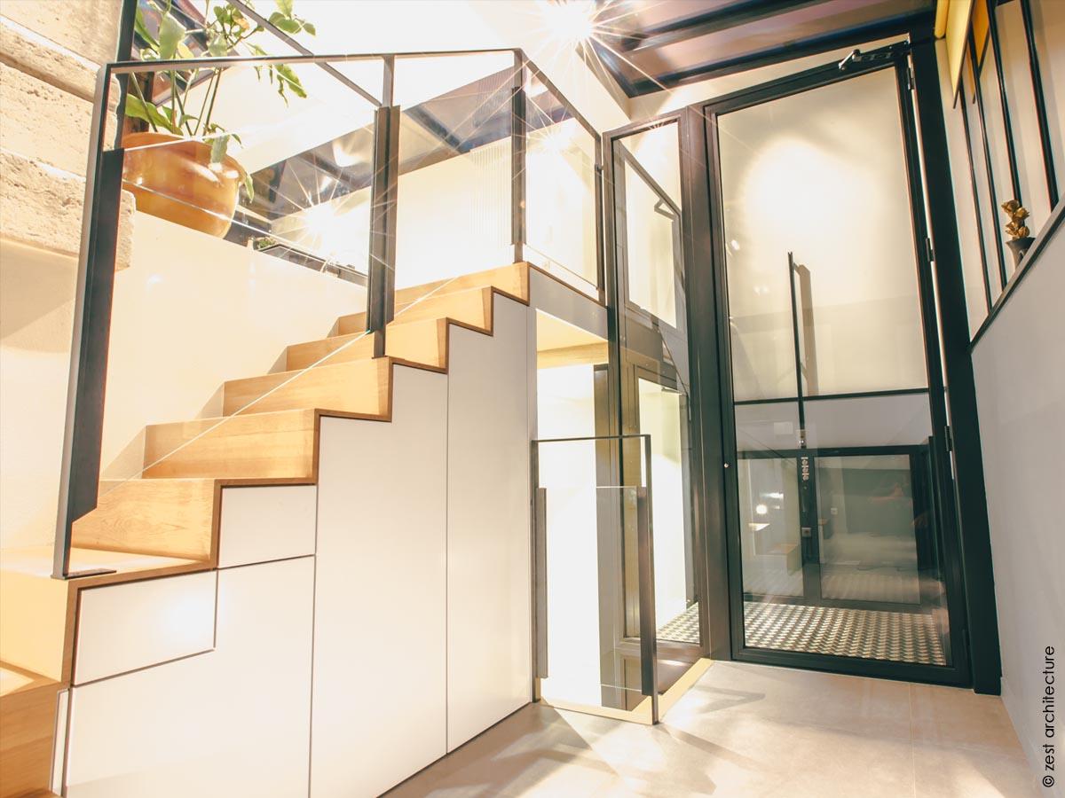 Célèbre Extension de verre d'une maison de ville / La Rochelle (17) | Zest  KS52