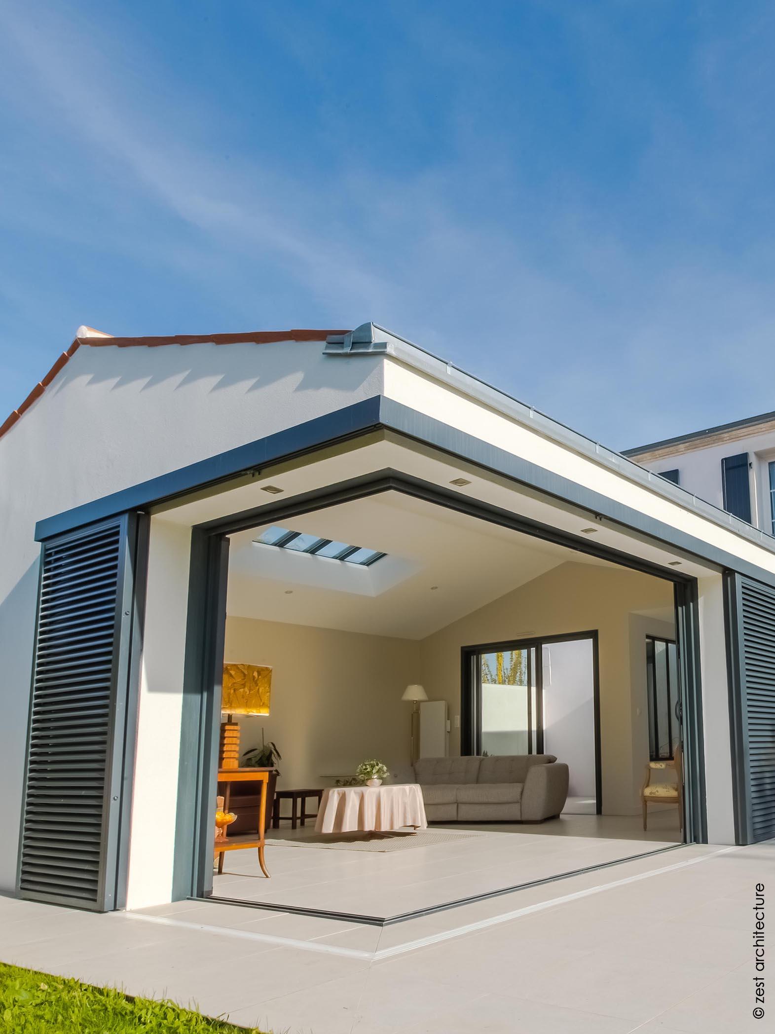 baie d'angle à galandage - zest architecture - céline & jean delauné