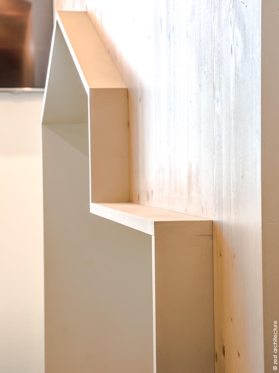 cabane bois enfant aménagement intérieur