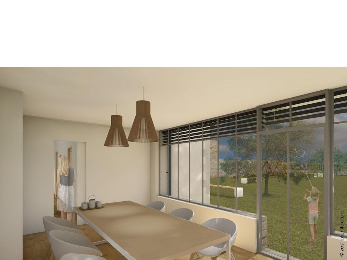 Extension d une maison individuelle  Chagnolet (17) - Zest Architecture -  Céline   Jean Delauné - Architecte La Rochelle - Architecte Ile de RéZest  ... eff72f6f42f0