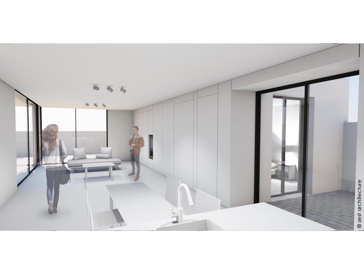 Construction d 39 une maison minimaliste p rigny 17 for Construction maison minimaliste