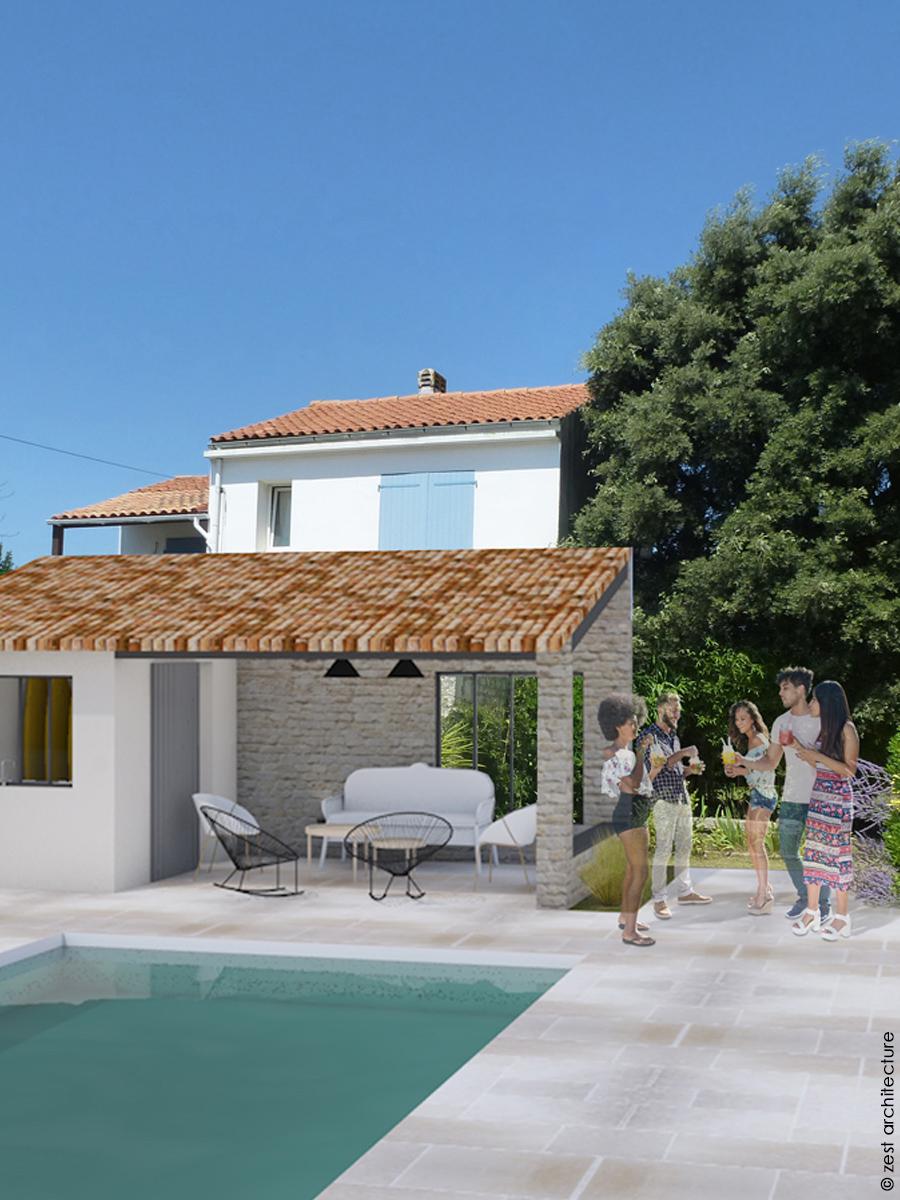 Rénovation maison années 70  La Rochelle(17) - Zest Architecture ... 0ef7bda89c3e